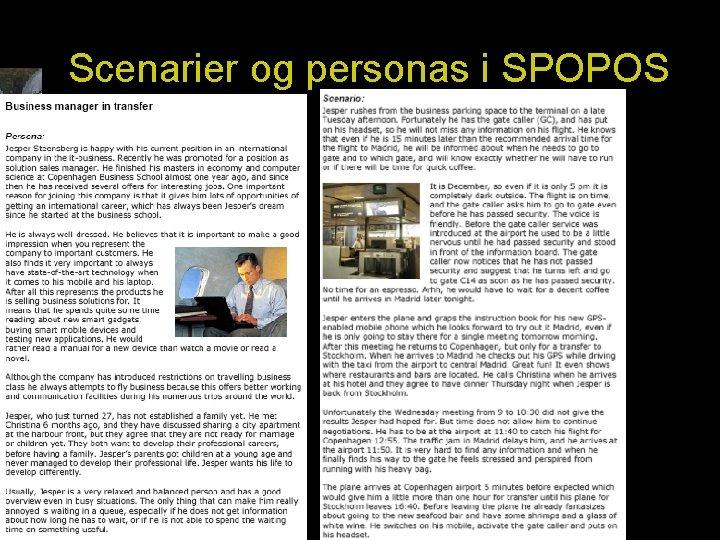 Scenarier og personas i SPOPOS