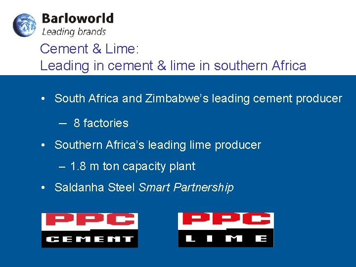 Cement & Lime: Leading in cement & lime in southern Africa • South Africa