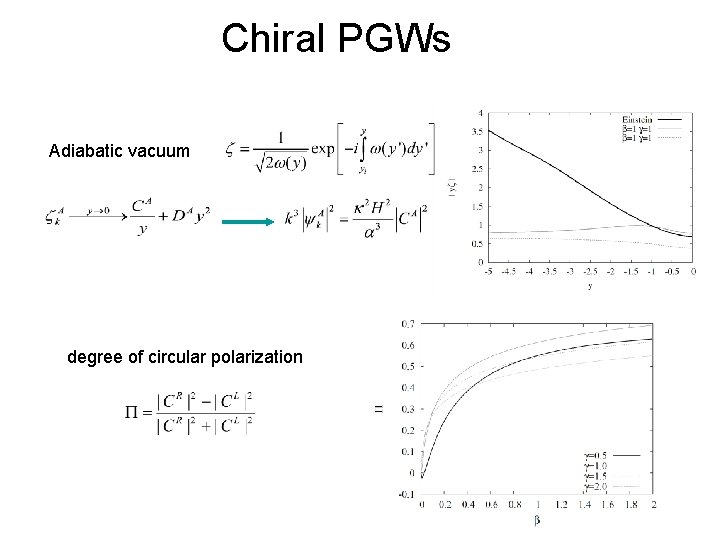 Chiral PGWs Adiabatic vacuum degree of circular polarization
