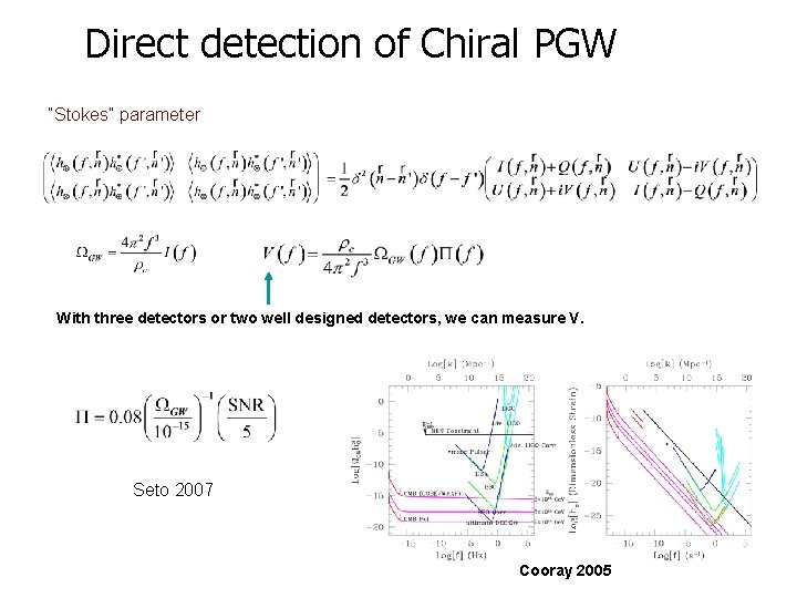 """Direct detection of Chiral PGW """"Stokes"""" parameter With three detectors or two well designed"""