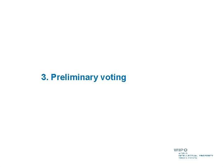 3. Preliminary voting