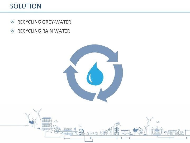 SOLUTION RECYCLING GREY-WATER RECYCLING RAIN WATER