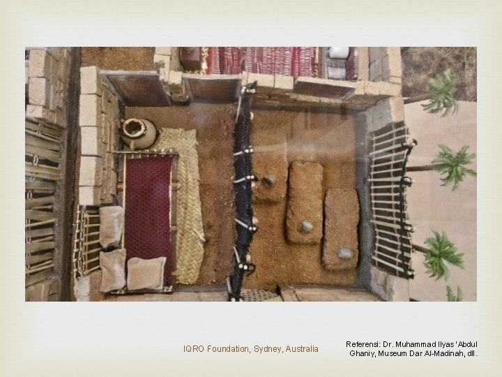 IQRO Foundation, Sydney, Australia Referensi: Dr. Muhammad Ilyas 'Abdul Ghaniy, Museum Dar Al-Madinah, dll.