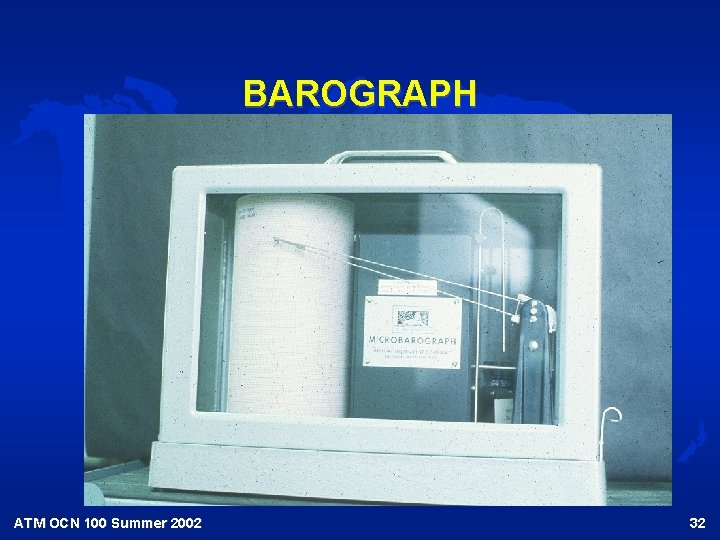 BAROGRAPH ATM OCN 100 Summer 2002 32