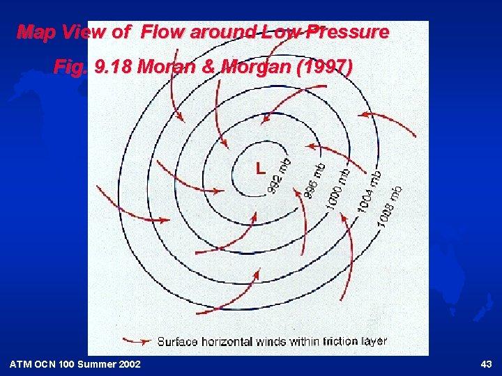 Map View of Flow around Low Pressure Fig. 9. 18 Moran & Morgan (1997)
