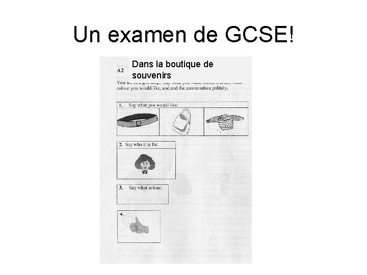 Un examen de GCSE! Dans la boutique de souvenirs