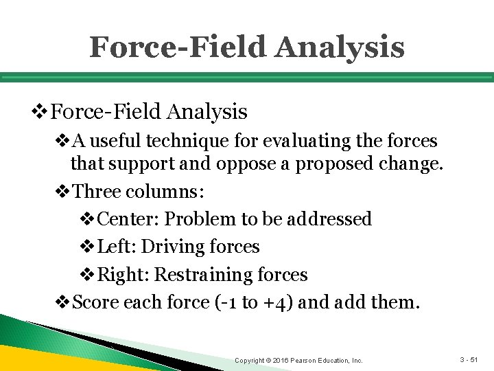 Force-Field Analysis v. A useful technique for evaluating the forces that support and oppose