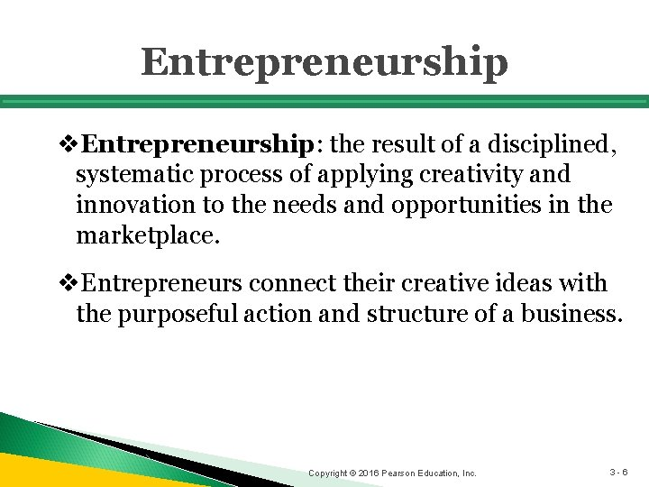 Entrepreneurship v. Entrepreneurship: the result of a disciplined, systematic process of applying creativity and