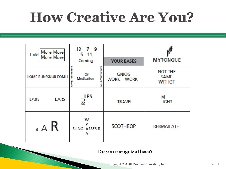 How Creative Are You? Do you recognize these? Copyright © 2016 Pearson Education, Inc.