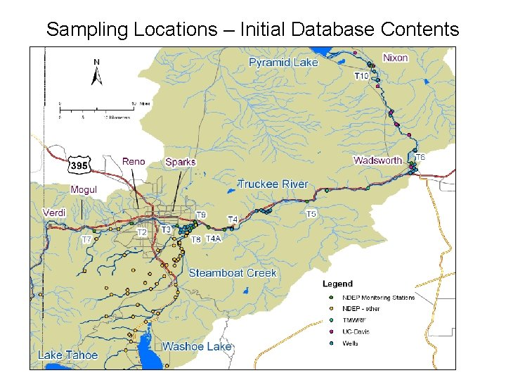 Sampling Locations – Initial Database Contents