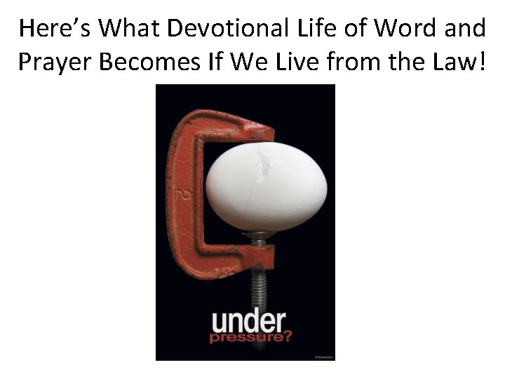 Here's What Devotional Life of Word and Prayer Becomes If We Live from the