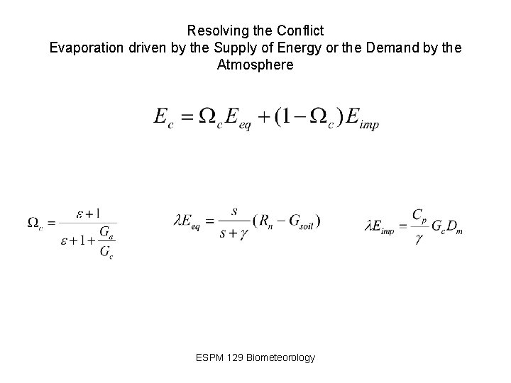 Resolving the Conflict Evaporation driven by the Supply of Energy or the Demand by