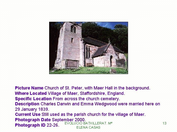 Picture Name Church of St. Peter, with Maer Hall in the background. Where Located
