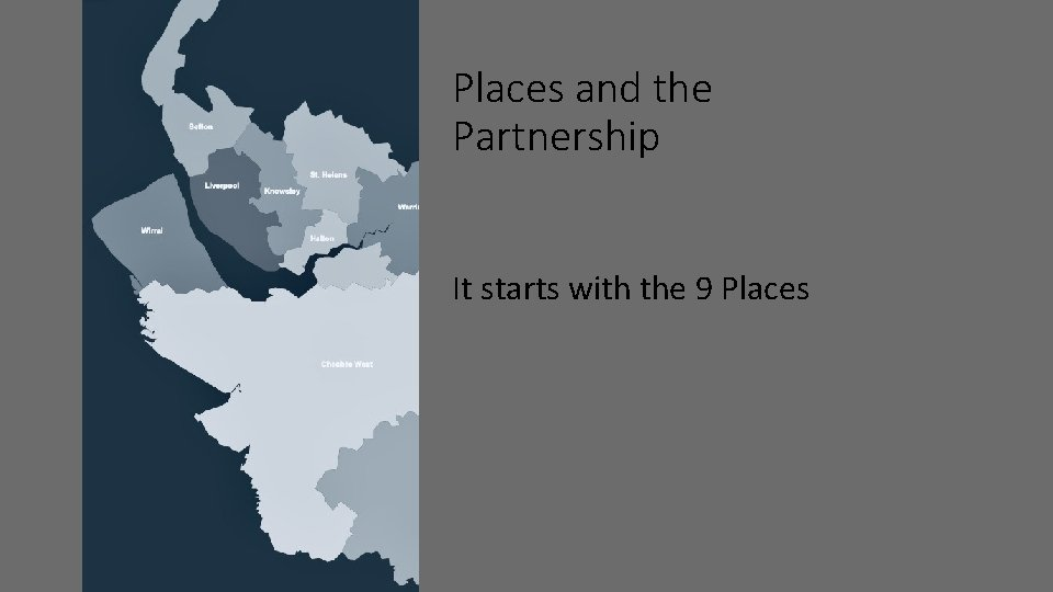 Places and the Partnership It starts with the 9 Places