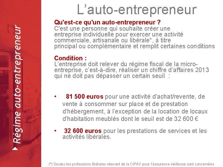 4 Régime auto-entrepreneur L'auto-entrepreneur Février 2008 Qu'est-ce qu'un auto-entrepreneur ? C'est une personne qui