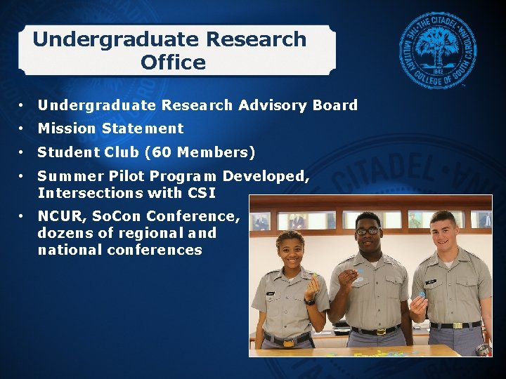 Undergraduate Research Office • Undergraduate Research Advisory Board • Mission Statement • Student Club
