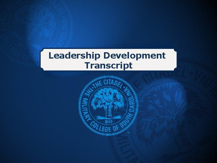 Leadership Development Transcript 17