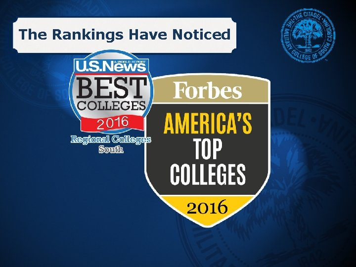 The Rankings Have Noticed