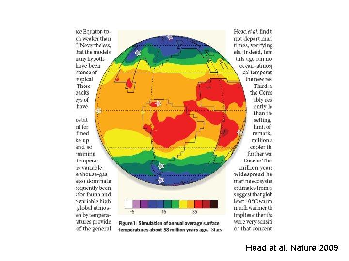 Head et al. Nature 2009