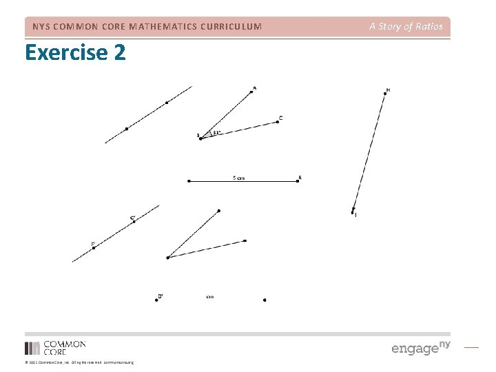 NYS COMMON CORE MATHEMATICS CURRICULUM Exercise 2 © 2012 Common Core, Inc. All rights