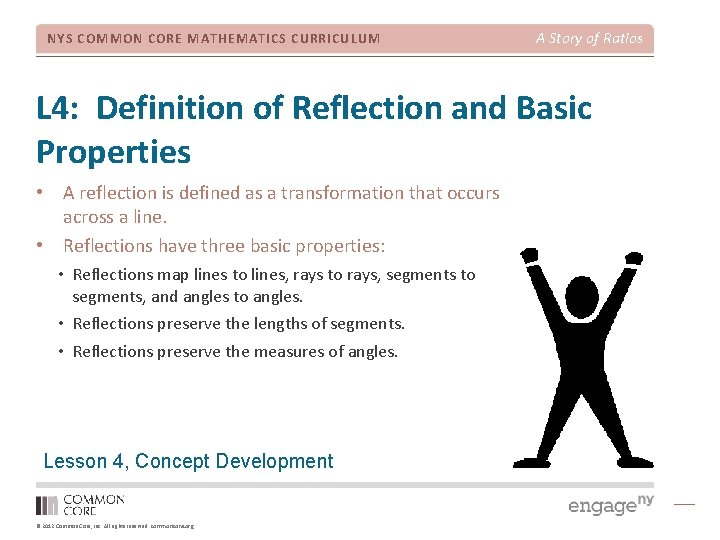 NYS COMMON CORE MATHEMATICS CURRICULUM A Story of Ratios L 4: Definition of Reflection