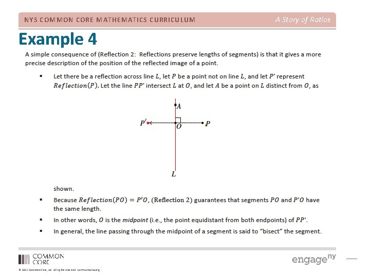 NYS COMMON CORE MATHEMATICS CURRICULUM Example 4 © 2012 Common Core, Inc. All rights