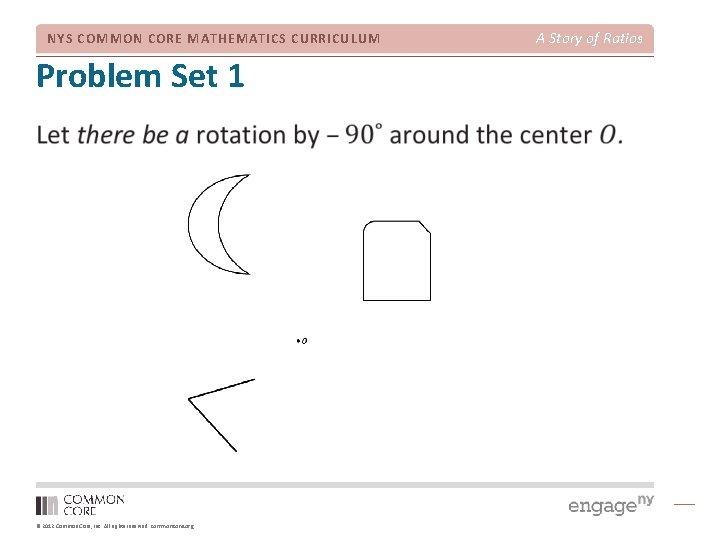 NYS COMMON CORE MATHEMATICS CURRICULUM Problem Set 1 © 2012 Common Core, Inc. All