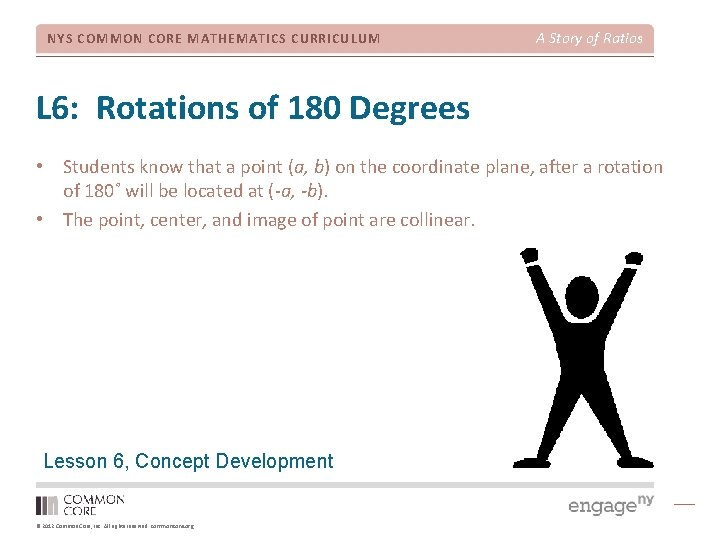 NYS COMMON CORE MATHEMATICS CURRICULUM A Story of Ratios L 6: Rotations of 180