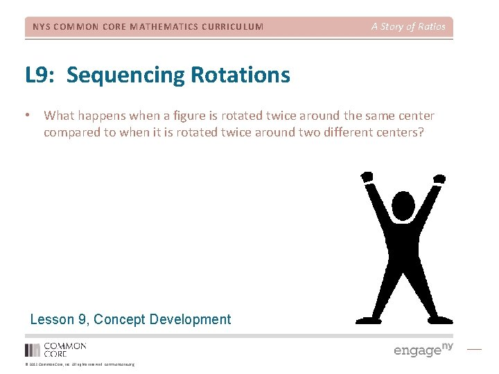 NYS COMMON CORE MATHEMATICS CURRICULUM A Story of Ratios L 9: Sequencing Rotations •