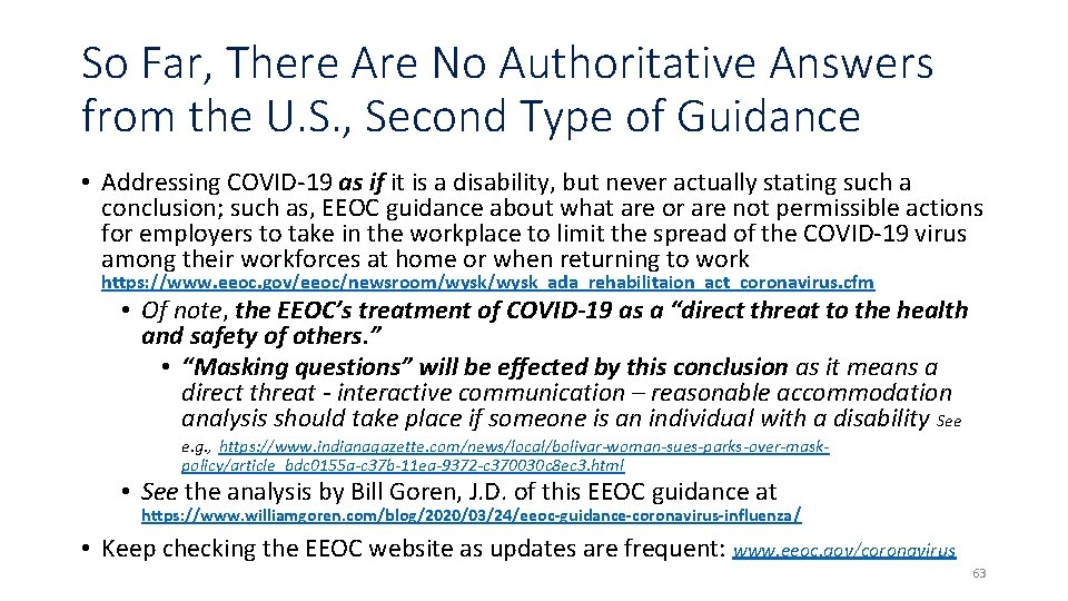 So Far, There Are No Authoritative Answers from the U. S. , Second Type