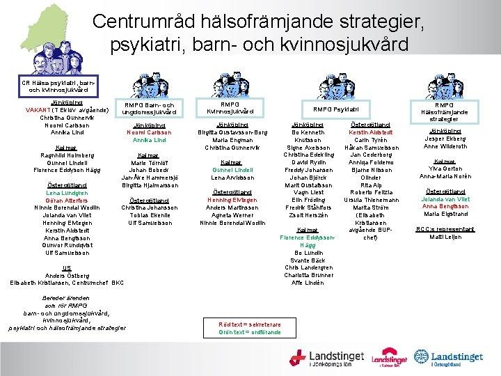 Centrumråd hälsofrämjande strategier, psykiatri, barn- och kvinnosjukvård CR Hälsa psykiatri, barnoch kvinnosjukvård Jönköping VAKANT