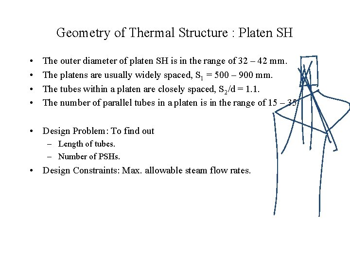 Geometry of Thermal Structure : Platen SH • • The outer diameter of platen