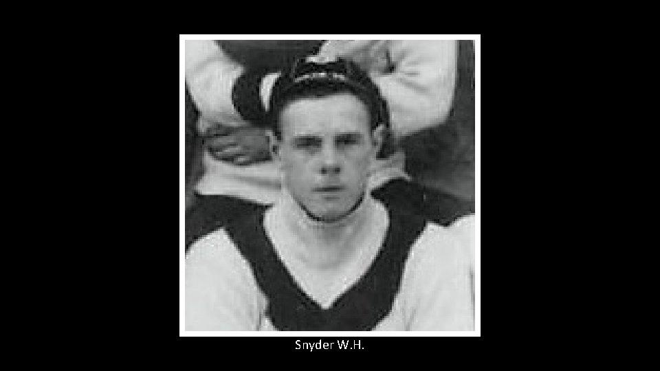 Snyder W. H.