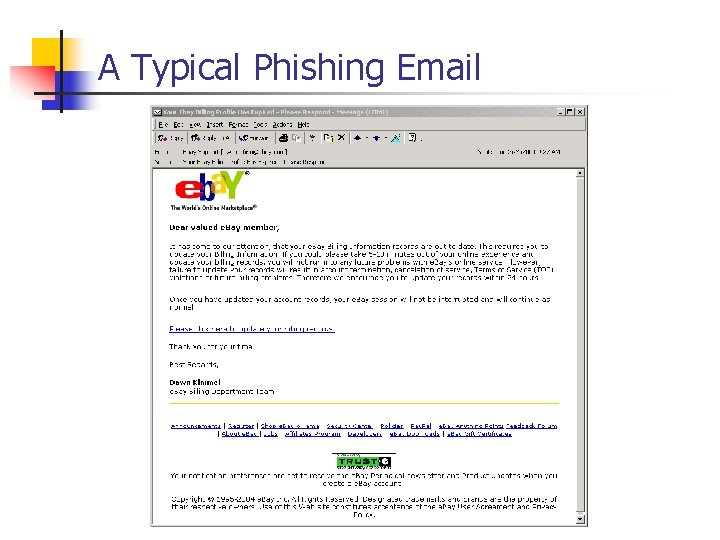 A Typical Phishing Email