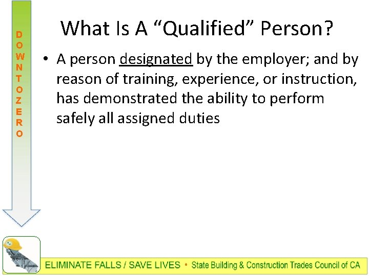 "D O W N T O Z E R O What Is A ""Qualified"""