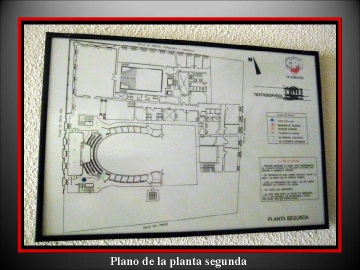 Plano de la planta segunda