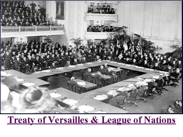 Treaty of Versailles & League of Nations