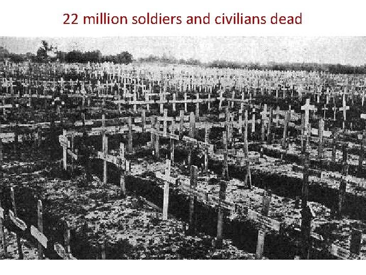 22 million soldiers and civilians dead