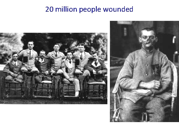 20 million people wounded