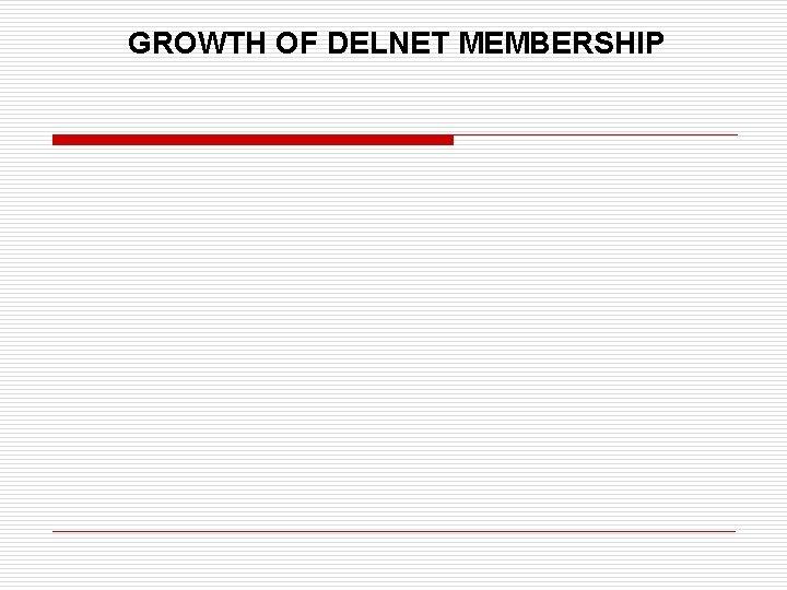 GROWTH OF DELNET MEMBERSHIP