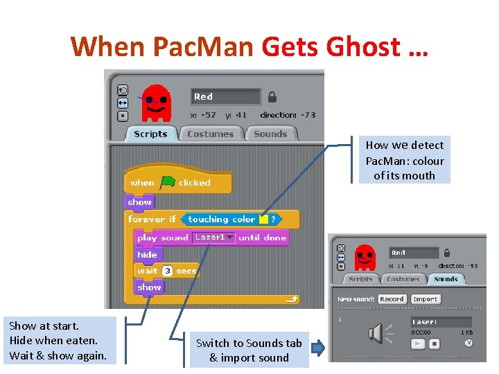 When Pac. Man Gets Ghost … How we detect Pac. Man: colour of its