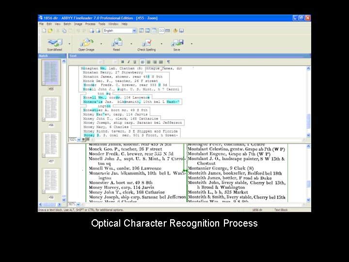 Optical Character Recognition Process