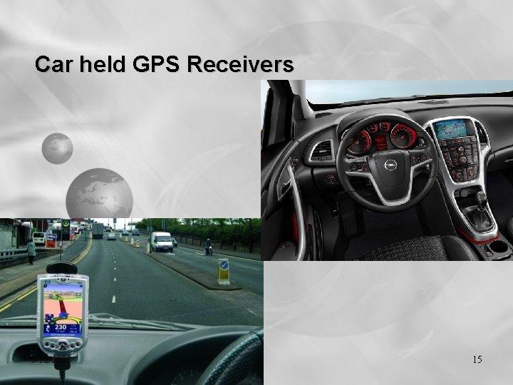 Car held GPS Receivers 3/12/2021 15