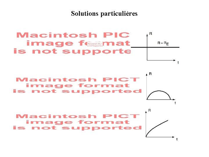 Solutions particulières