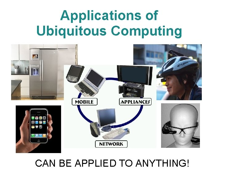 Applications of Ubiquitous Computing CAN BE APPLIED TO ANYTHING!