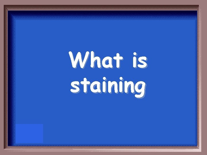 What is staining
