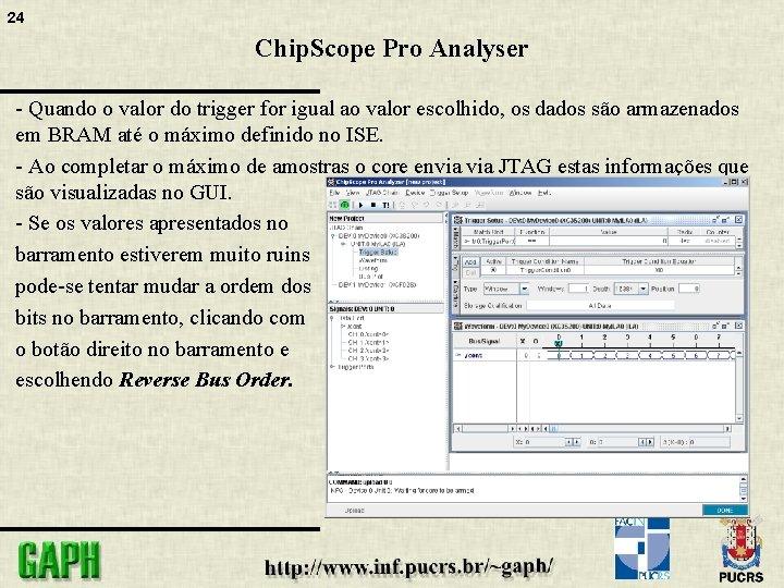 24 Chip. Scope Pro Analyser - Quando o valor do trigger for igual ao
