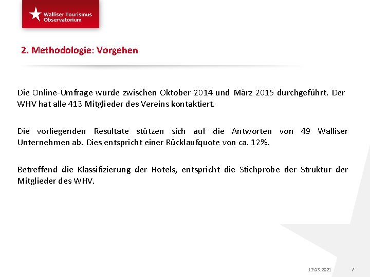 2. Methodologie: Vorgehen Die Online-Umfrage wurde zwischen Oktober 2014 und März 2015 durchgeführt. Der