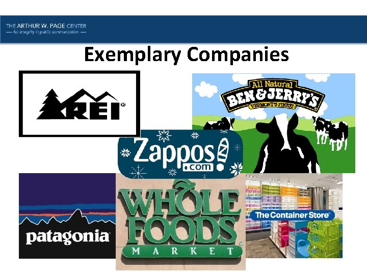 Lesson One | Introduction Exemplary Companies