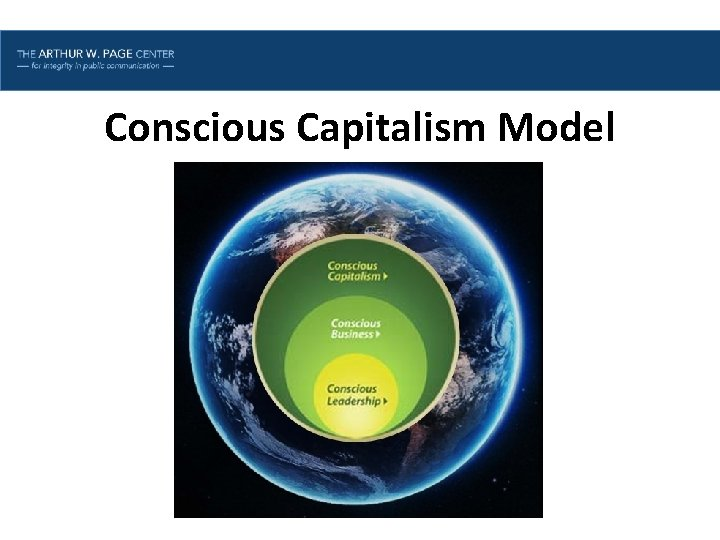 Lesson One | Introduction Conscious Capitalism Model